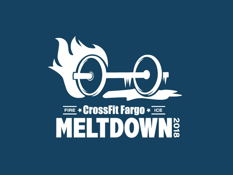 CFF Meltdown 2018 ice fire barbell t-shirt apparel crossfit