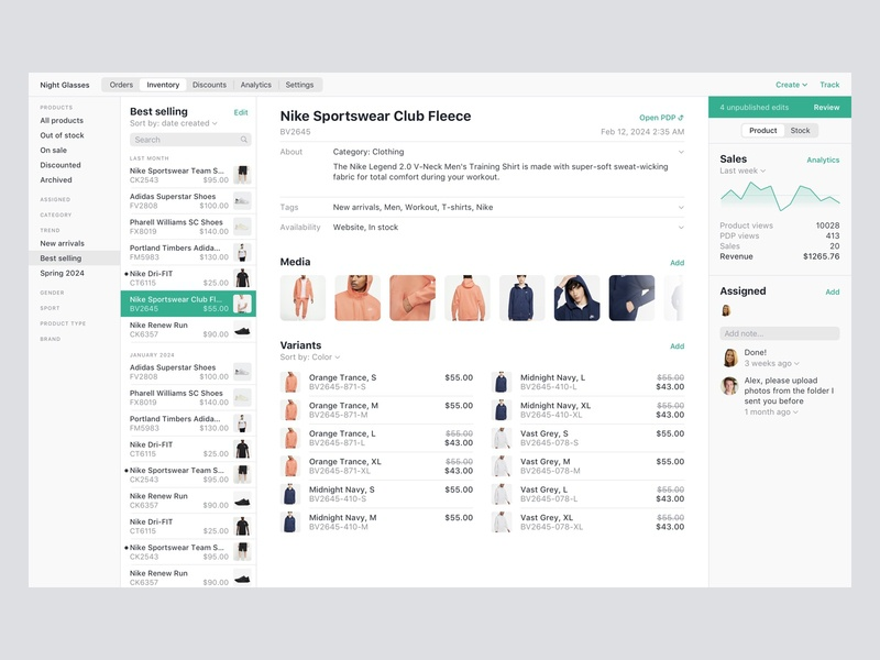 FoxCommerce • Product details page