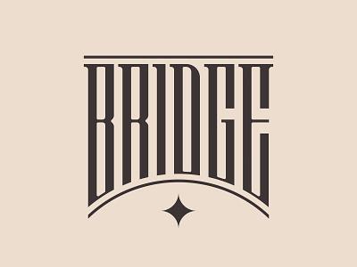 Bridge Lettering monogram letters logo lettering type logo