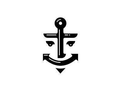 SailorMan emblem symbol logos anchor logo logo design logodesign logotype logo sailor anchor
