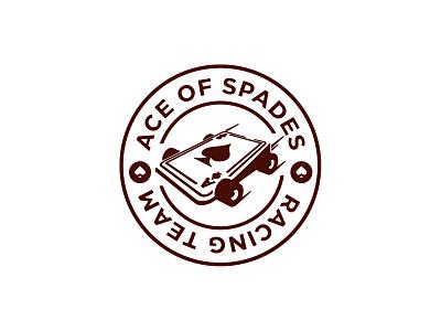 Ace of Spades emblem racing logo logo design logodesign logotype logo car racing ace of spades