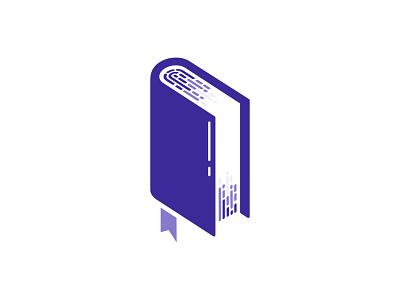 Book + Fingerprint logo vector negative-space logos design logodesign logotype negative space logo negativespace negative space logo design logo