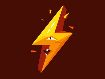 Angry Bolt Logo illustration vector emblem logos design logodesign logo design logotype logo angry bolt logo bolt