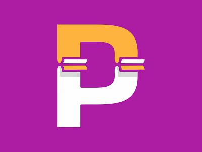 P+ Paper logo branding vector type emblem logos design logodesign logo design logotype logo