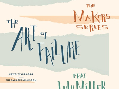 Makers Series collage failure hand lettering brush lettering illustration