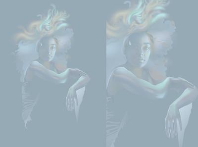 09/07/20 fashion design realistic vector lights neon light illustration portrait neon light