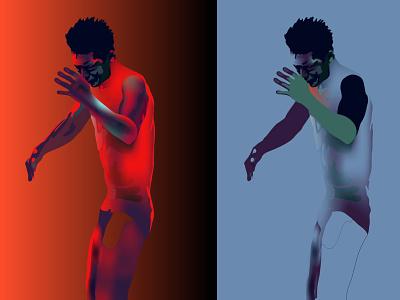 18/01/21 realistic neon light vector illustration psychology humanity