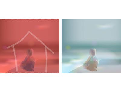 04.04.21 legitimation adoption psychology relax sky sea summer child realistic light vector illustration