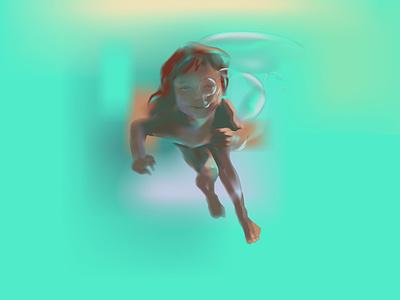 dev3 sun sky fun sail fables under water summer baby sea child design realistic neon light neon light vector illustration