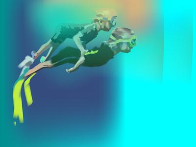 pl2 motion graphics underwater design realistic neon light neon light vector illustration