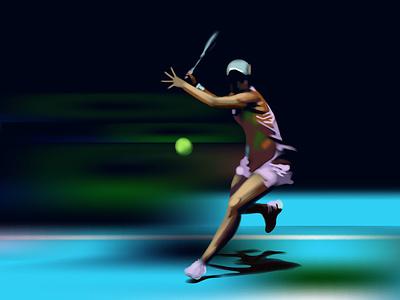 Ashleigh Barty, sport, tennis wimbledon tennis sport athlete tournament sneakers racket ball illustration game