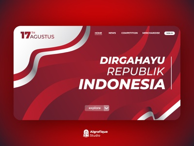 User Interface for Indonesia Independence Day merah putih indonesia independence day indonesia independence day graphic design design icon branding ui