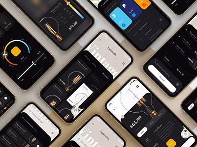Ecommerce Concept App ui card payment shopping 7ninjas category cart buy drop drag swipe app shop color picker basket listing details product 3d touch ecommerce