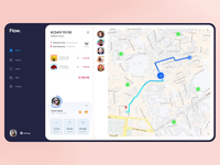 Flower Delivery Manager - Desktop App fowers dashboad ecommerce assignment map order management courier tracking app desktop application ui store shop web design typography product design print mobile illustration branding animation