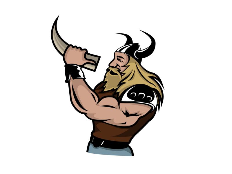 Viking portfolio illustration vector logo design