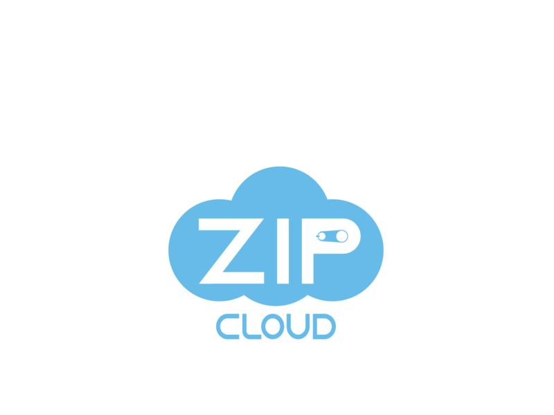Zip Cloud typography lettering portfolio flat dailylogochallenge illustration logo vector design