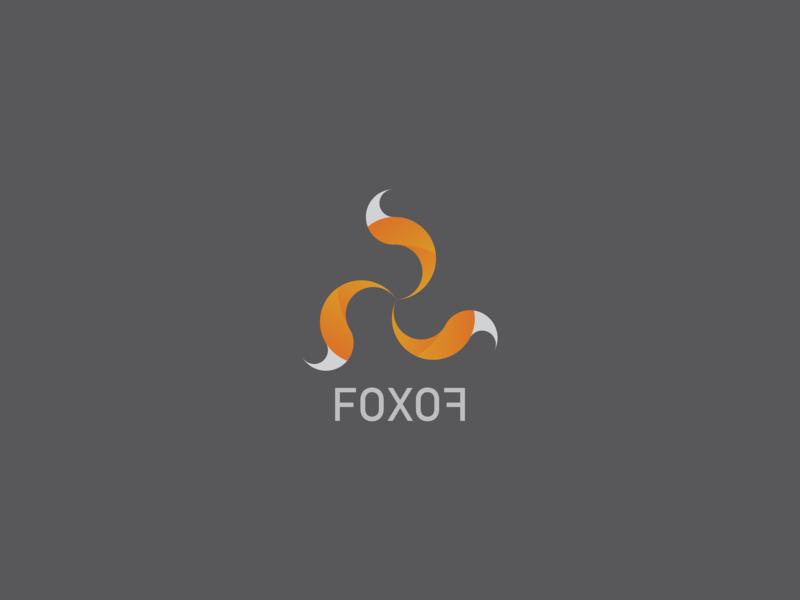 Foxof portfolio flat dailylogochallenge illustration logo vector design