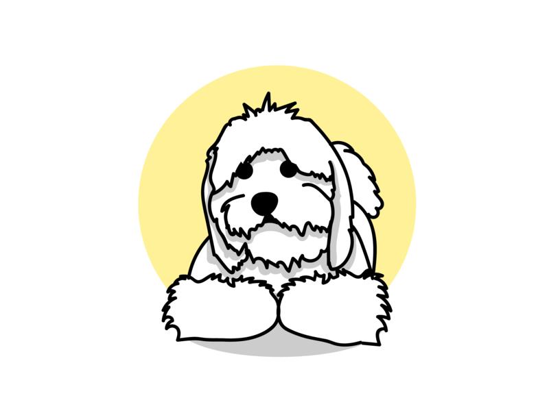 Max dog illustration dog pet design pet mascot mascot character cartoon flat portfolio illustration vector design