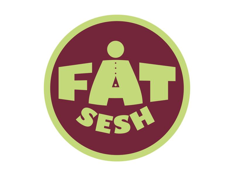 Fat Sesh logodesign food funny illustration drunk drink funny flat portfolio logo illustration vector design