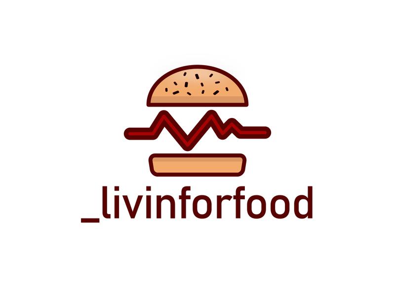 Livin for food reviews blog instagram restaurant review food logodesign portfolio logo illustration vector design