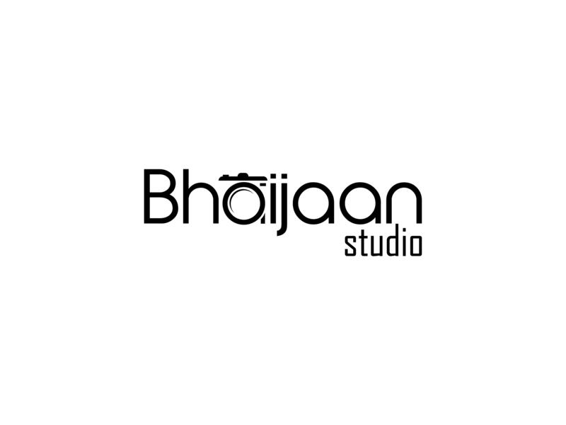 Bhaijan4 lens camera studio photographer photography branding typography lettering flat portfolio logo illustration vector design
