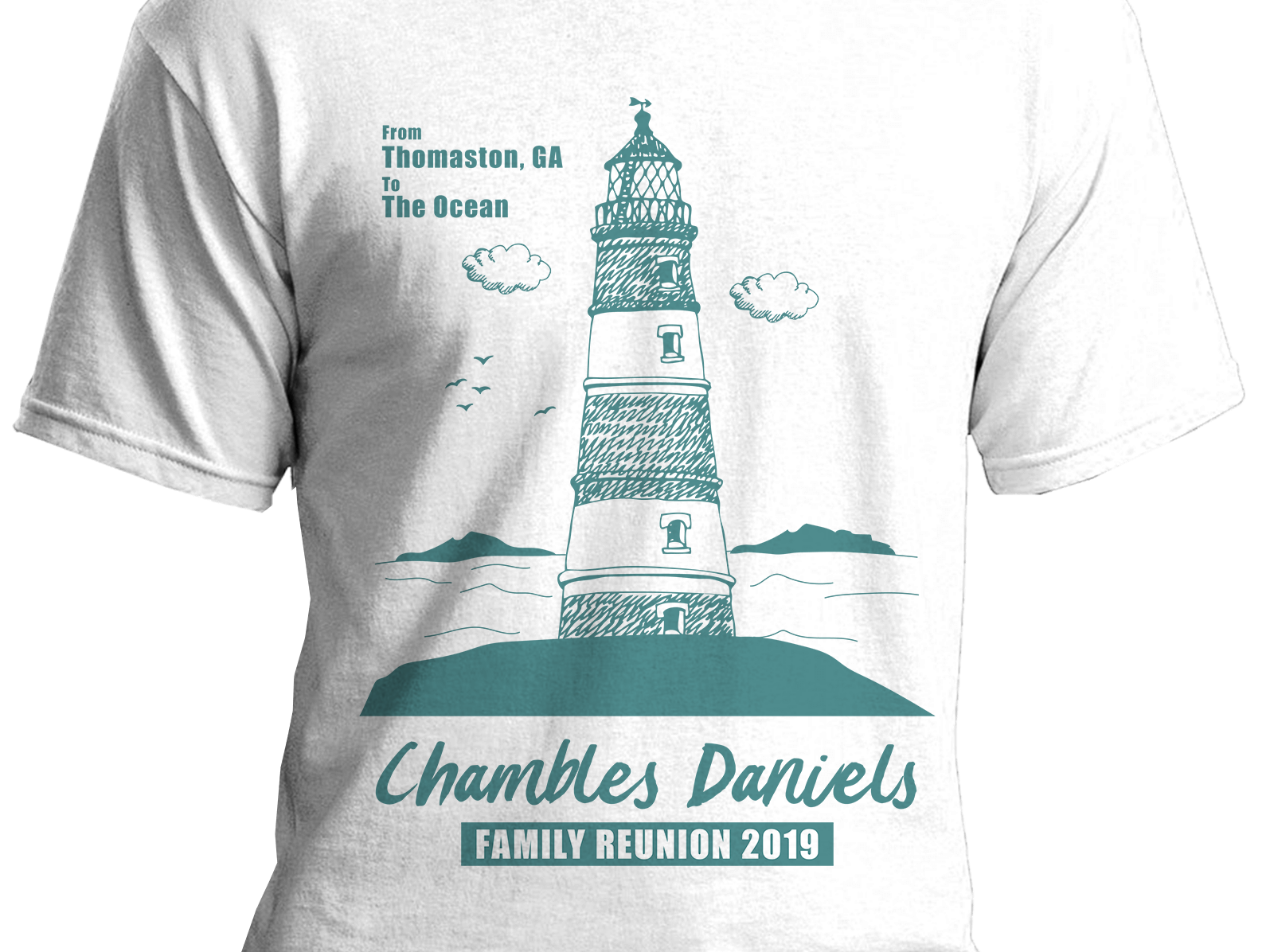 T-shirt Design fiverr freelance designer freelance design freelance art typography family beach reunion lighthouse tshirt design tshirt art tshirt portfolio illustration vector design