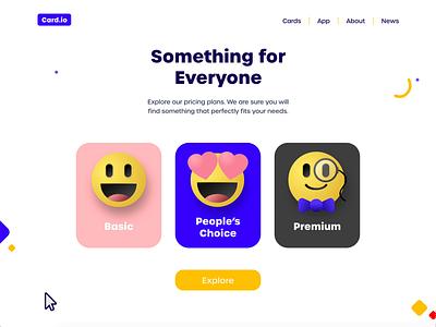 Pricing plan emojis cute selection emotions emoji pricing plan pricing illustration animation website modern 3d effect 3d