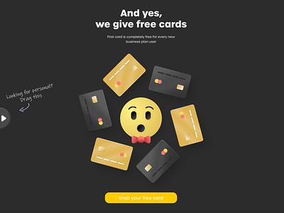 Personal/Business slider transition slider microinteraction interaction transition emoji bank finance debit card credit card card business personal