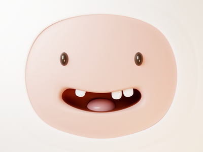Finn - Adventure time emotion happy smile cartoon face finn the human finn adventure time blender illustration 3d