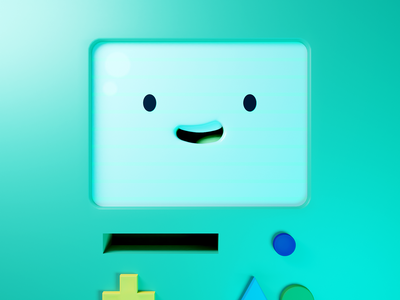 BMO - Adventure time adventure time cartoon smile character gameboy game console bmo illustration blender 3d