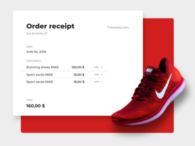 Email receipt - Daily UI