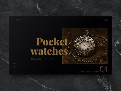 Watch store web concept minimalist shop luxury posh clean elegant minimal watch