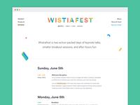 WistiaFest site