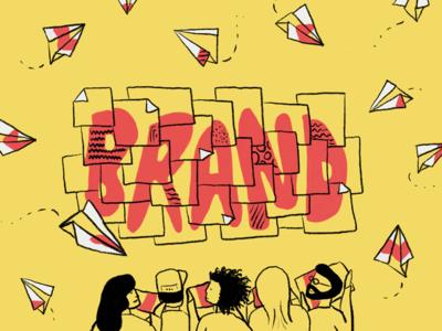 Building your brand brand wistia illustration