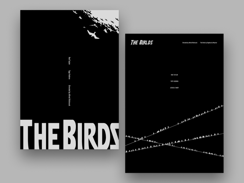 Movie Poster Challenge / The Birds illustration minimal typography graphicdesign film poster movie poster hitchcock poster