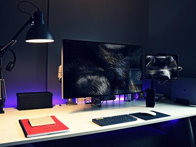 My 2020 Setup macbook pro 16 pro display xdr freelancer home office workstation website branding office apple setup