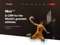 The Player's Tribune slam dunk hoop basketball web design ui design hero