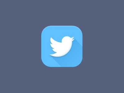 iOS7 Flat(ish) Twitter Icon