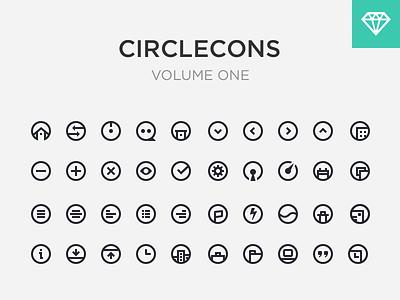 Circlecons Vol1 Sketch Download icon set free download home icon chat icon settings icon check icon trash icon psd sketch app