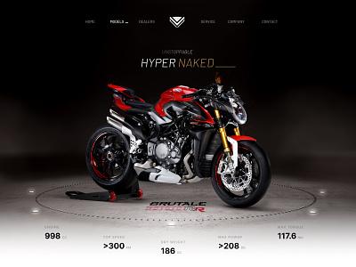 Model page for MV Agusta brutale motorbike motorcycles wordpress ui design web design ui mv agusta