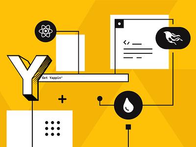 YAP Chat graphic banner design banner