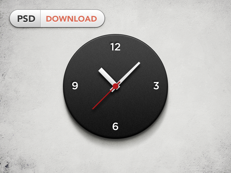 Wall Clock freebie clock time watch wall clock free psd wall