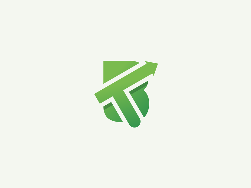 TB LOGO brand bt logo bt flat branding vector design tb arrow finance logo smooth gradient green tb tb logo logo arrow logo finance arrow