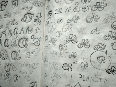 SKETCHES LOGO PLANET A