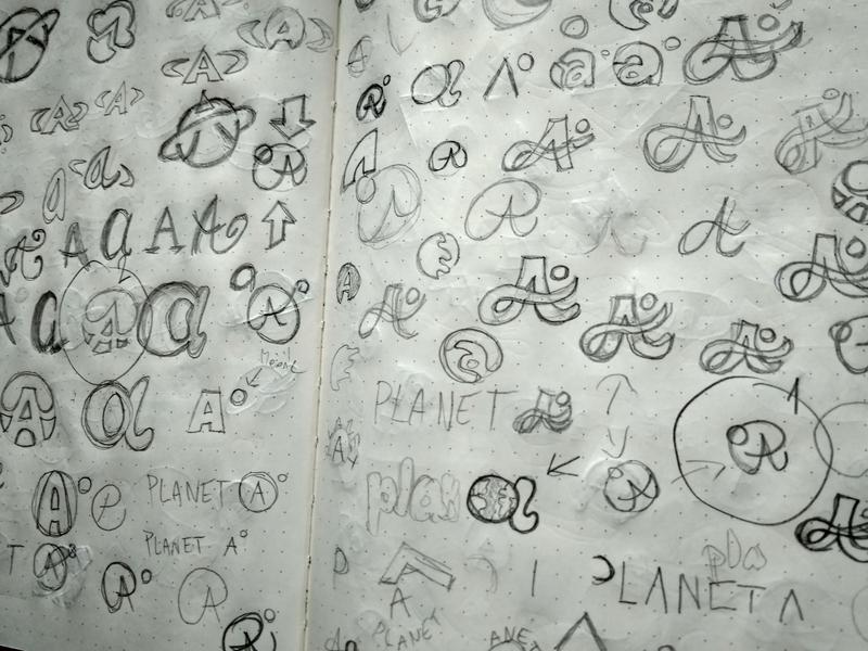 SKETCHES LOGO PLANET A pencil drawing planet earth planets planetary a logo planet a logo planet draw pencils ideas sketches sketch pencil logotype design white simple branding brand logo