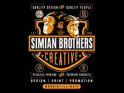 Simian Brothers Biker Poster