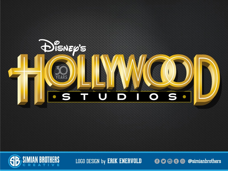 Disney's Hollywood Studios Logo Design theme park design imagineering theme park mickey mouse toy story star wars hollywood studios wdw branding walt disney world disney world walt disney disney hollywood design logo design logos graphic design logo graphic design graphic  design