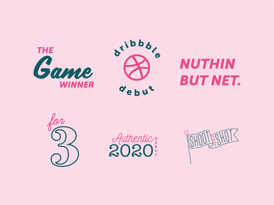 Hello Dribbble! hello dribble dribbble debut art design logo branding icon