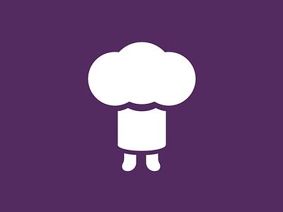 Tinychef sketchapp logo chef hat icon simple flat