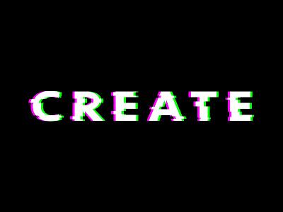 Create Glitch typography rgb glitch create